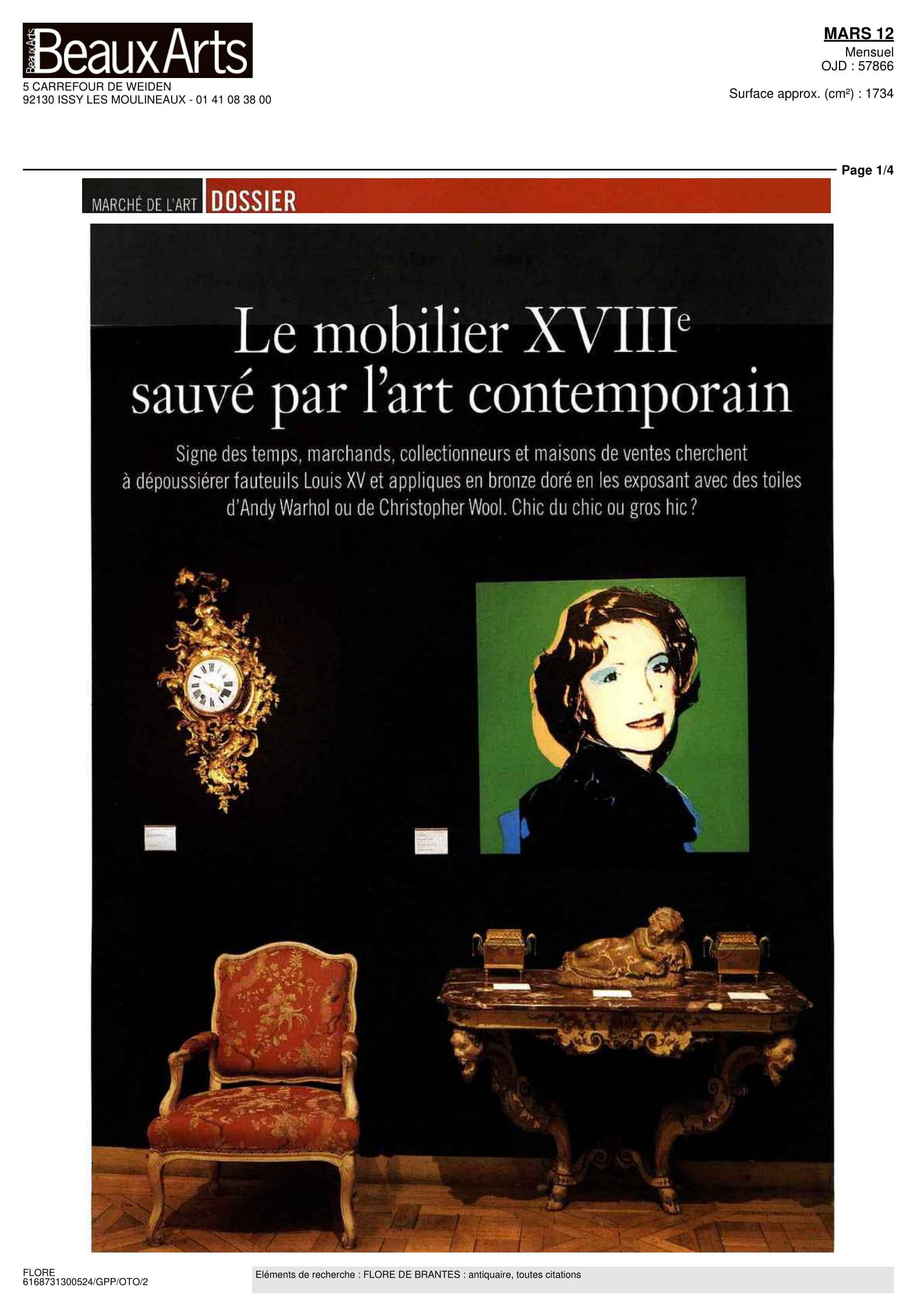 Beaux Arts Magazine — Feb. 2012