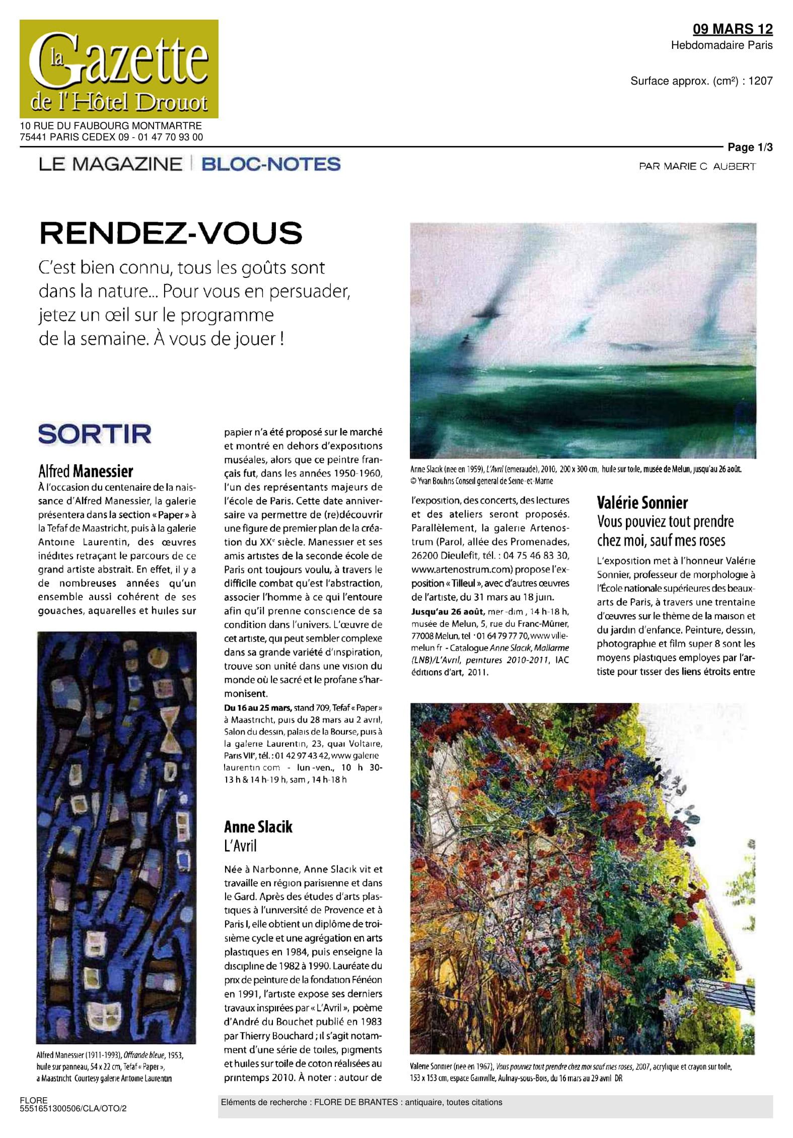 La Gazette de l'Hôtel Drouot — March 2012