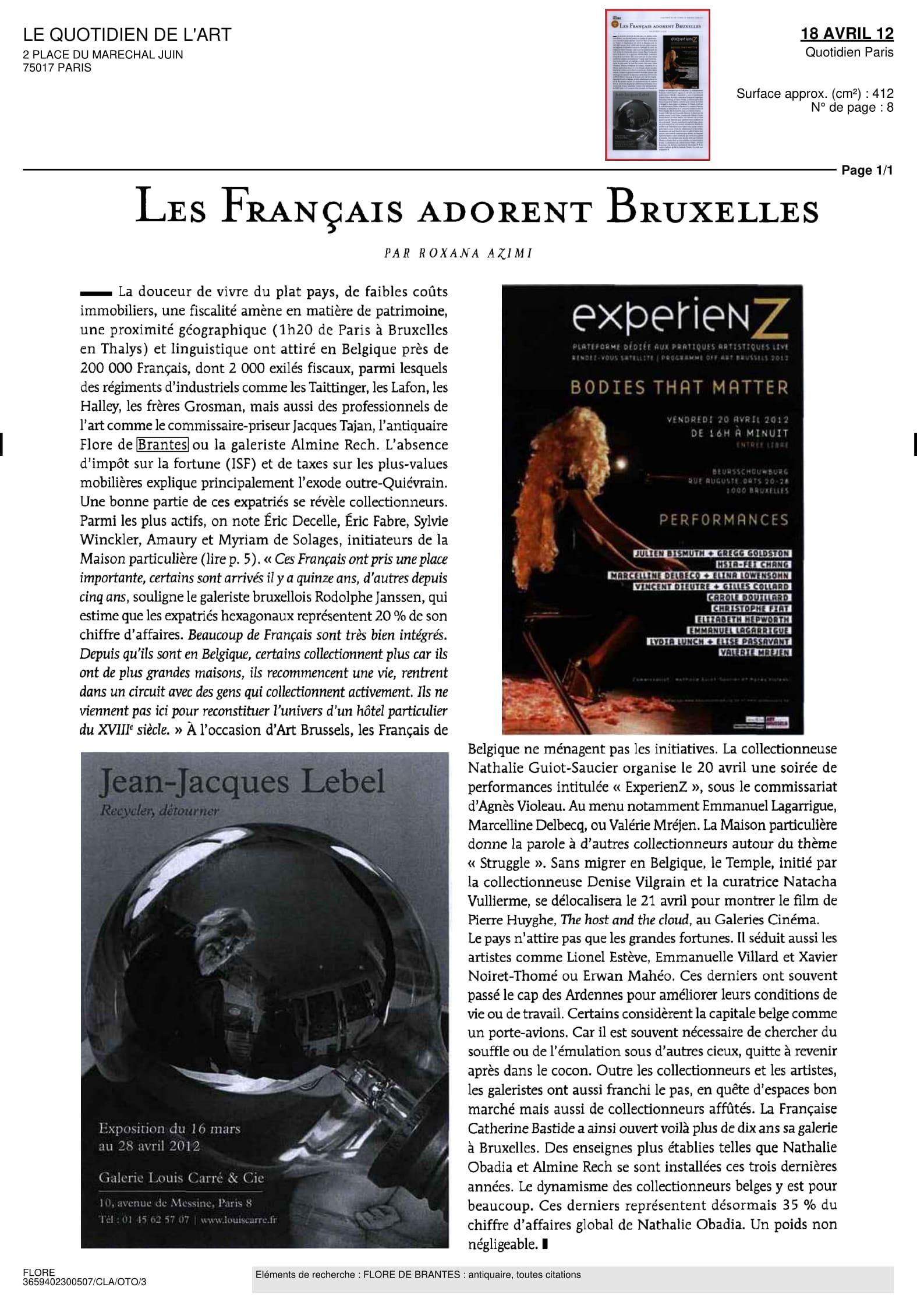 Le Quotidien de l'Art — April 2012