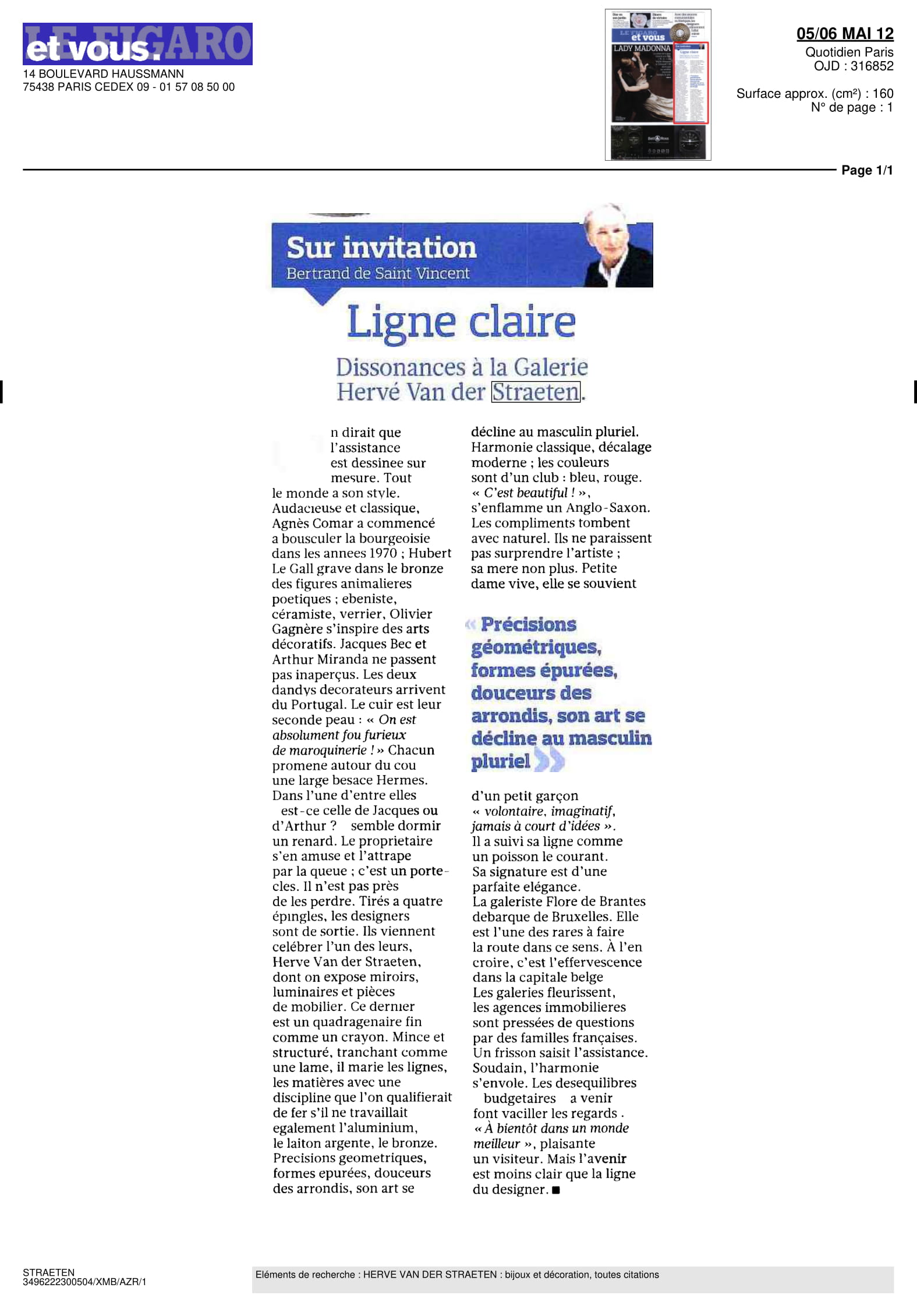 Le Figaro et Vous — May 2012
