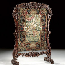 A Régence giltwood fire screen