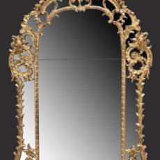 A Régence giltwood mirror