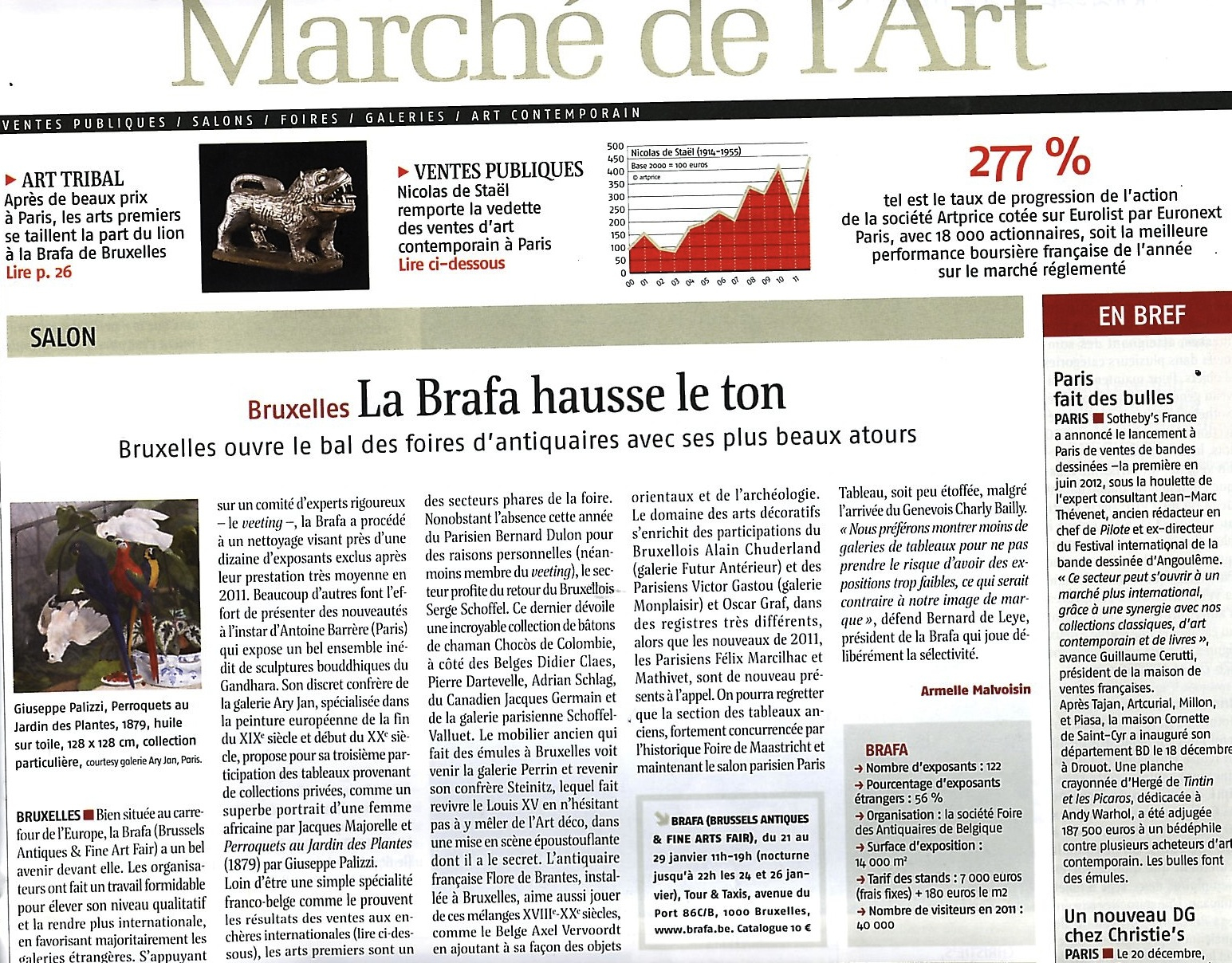 Le Journal Des Arts — Jan. 2012