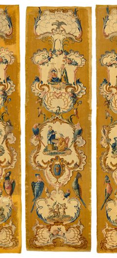 THREE GERMAN WALL SAVONNERIES TAPESTRIES OF PRINCELY PROVENANCE